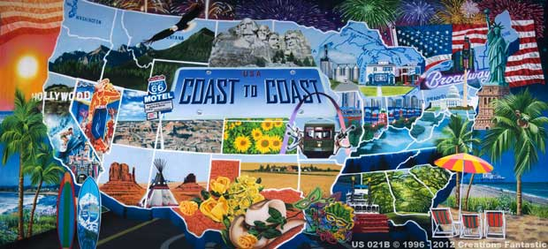 Backdrop US 021B USA Coast to Coast B