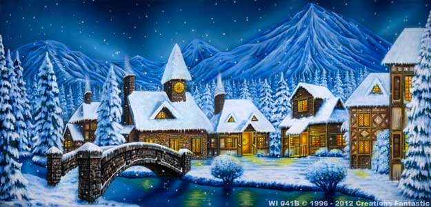 Backdrop WI 041B Winter Village 1B