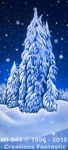 Backdrop WI044 Winter Wonderland Tree Panel 11