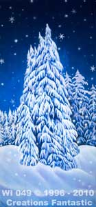 Backdrop WI049 Winter Wonderland Tree Panel 16