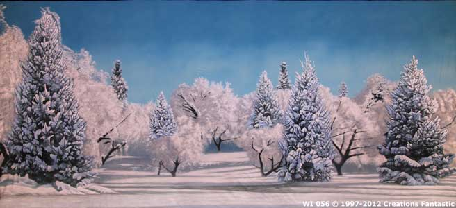 Backdrop WI 056 Winter Tree Landscape 3