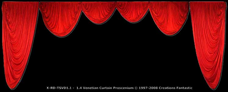 Backdrop XRD TSVD1-1-1-4 Venetian Curtain Proscenium