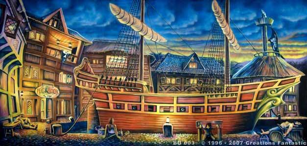 Pirate Ship Deck Backdrop Pirate Ship Deck Backd...