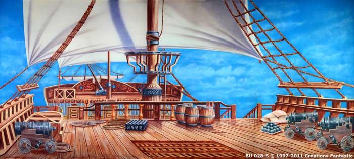Pirate Ship Deck Backdrop Backdrop BU028-S Pirat...