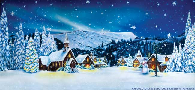 Backdrop CH001D-DP3 Christmas Village 1D