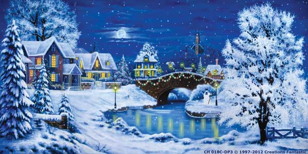 Backdrop CH018C-DP3 Christmas Village 7C
