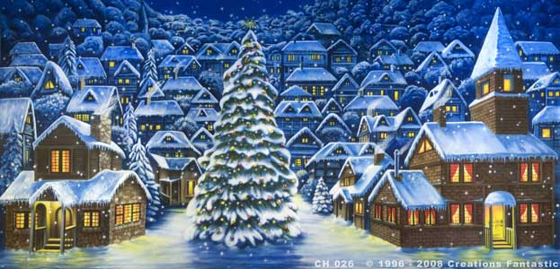 Backdrop CH026 Christmas Village 8