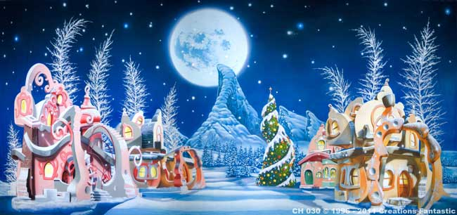 Backdrop CH030 Whoville Christmas 2