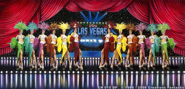 Backdrop CN015-DP Las Vegas Showgirls 2