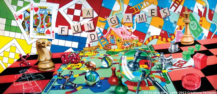 Backdrop CO 011B-S-DP Fun and Games B