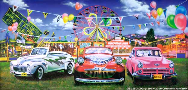 Backdrop DE 015-DP3 Grease Funfair C