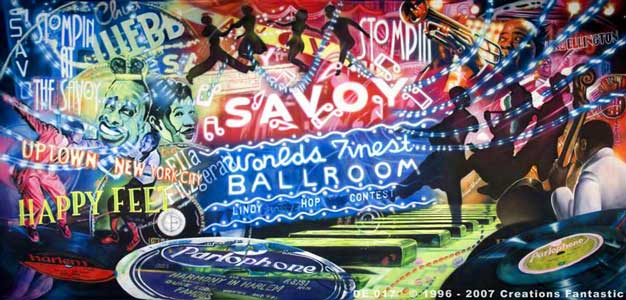 Backdrop DE017 Harlem Jazz 2 - The Savoy Ballroom
