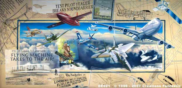 Backdrop DE021 History of Flight