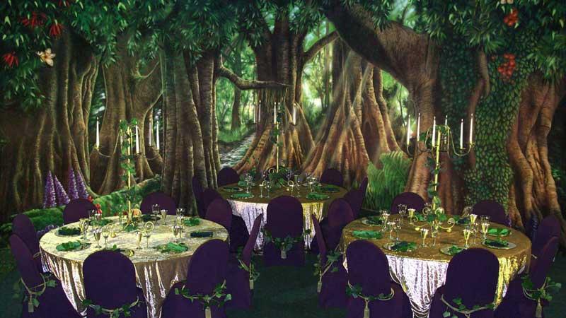 Backdrops Fantastic - Backdrops in Action - ME 005 Medieval Forest 1