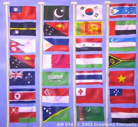 Backdrop AW 014 Flags of the World 2
