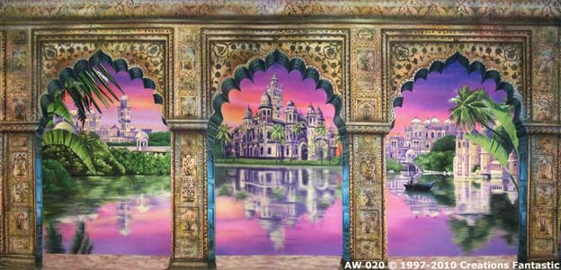 Backdrop AW020 Indian Palace Arches 1