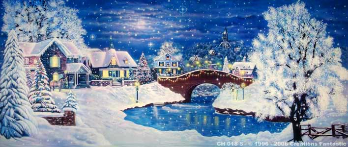 Backdrop CH018-S Christmas Village 7