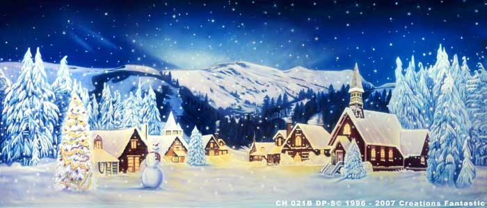 Backdrop Image: CH 021B-S-DP Christmas Village 6