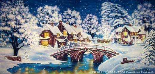 backdrop ch022 christmas village 5