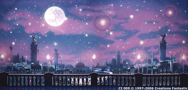 Backdrop CI009 Moonlight Rooftops
