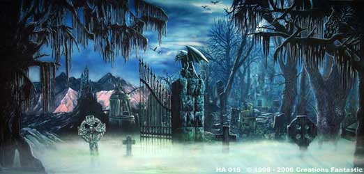 halloween backdrop size - Halloween Backdrop