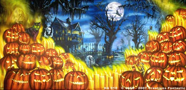backdrop image ha016 halloween 2