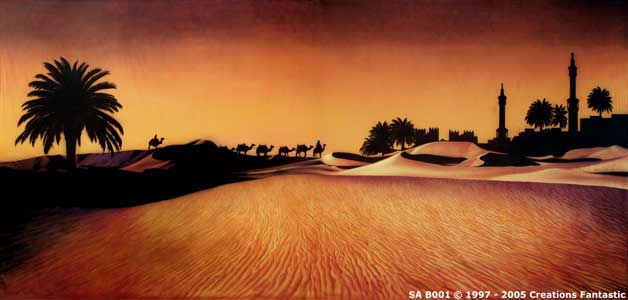 Backdrop SA B001 Sahara Sunset