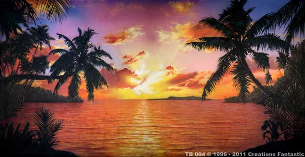 Backdrop Tb Tropical Beach Sunset