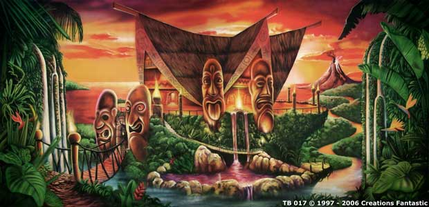 Backdrop TB 017 Sunset Tiki