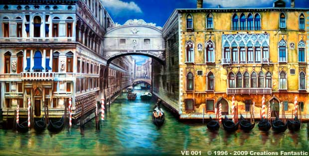 Backdrop VE 001 Canals of  Venice 1