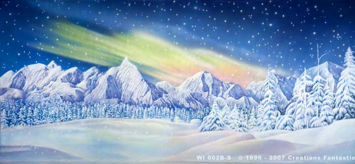 Backdrop Image: WI 002B-S Winter Wonderland 2B