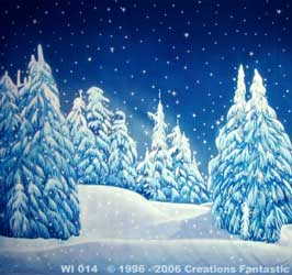 Winter Wonderland Backdrops - Hand Painted Scenic Backdrop ...