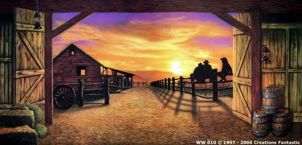 Backdrop WW010 Sunset Barn