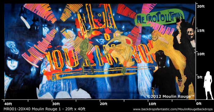 Backdrop MR 001-20X40 Moulin Rouge 1- 20ft x 40ft