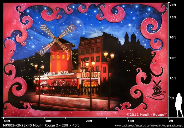 Backdrop MR 002-X8-28X40 Moulin Rouge 2 - 28ft x 40ft