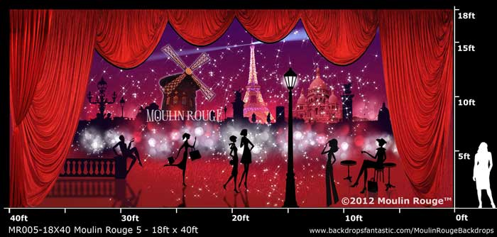 Backdrop MR 005-18X40 Moulin Rouge 5