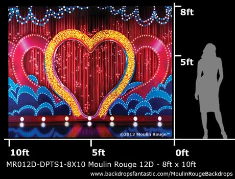 Backdrop MR 012D-DPTS1-8X10 Moulin Rouge 12D