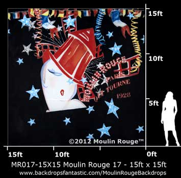 Backdrop MR 017-15X15 Moulin Rouge 17