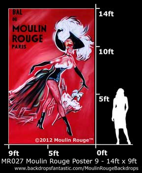 Backdrop MR 027-14X9 Moulin Rouge Poster 9