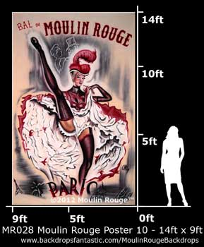 Backdrop MR 028-14X9 Moulin Rouge Poster 10